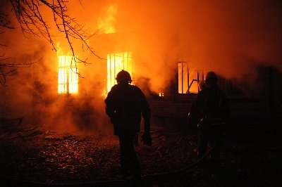 House Fire with Firefighters